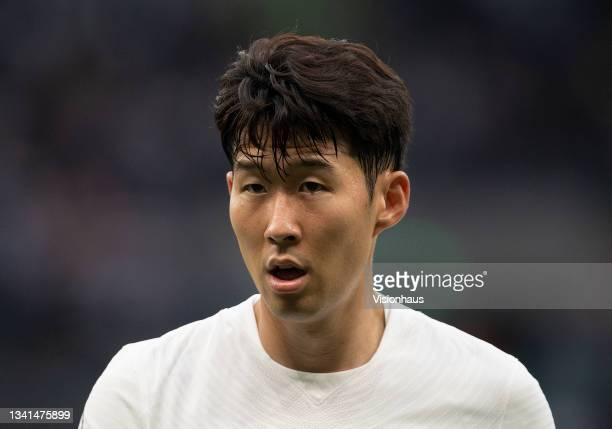 Son Heung-min of Tottenham Hotspur during the Premier League match between Tottenham Hotspur and Chelsea at Tottenham Hotspur Stadium on September...