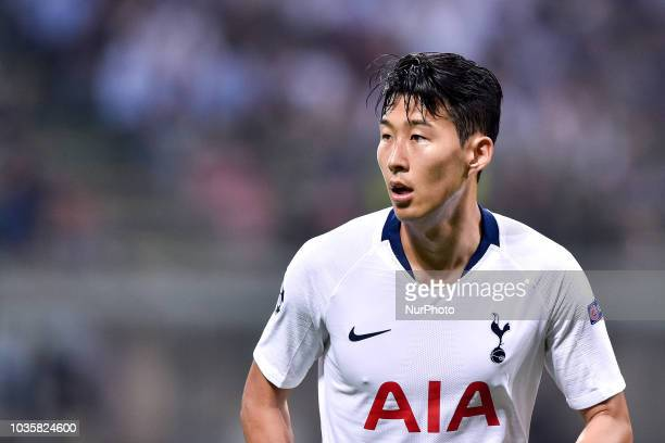Son HeungMin of Tottenham Hotspur during the UEFA Champions League Group B match between Inter Milan and Tottenham Hotspur at Stadio San Siro Milan...
