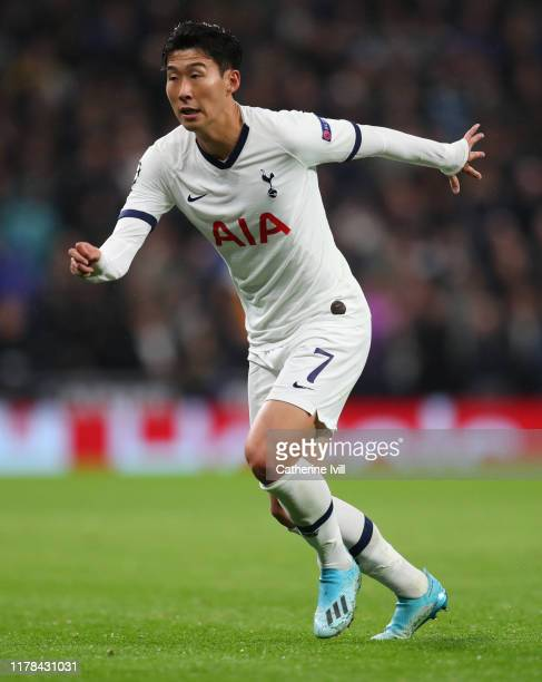 Son Heungmin of Tottenham Hotspur during the UEFA Champions League group B match between Tottenham Hotspur and Bayern Muenchen at Tottenham Hotspur...