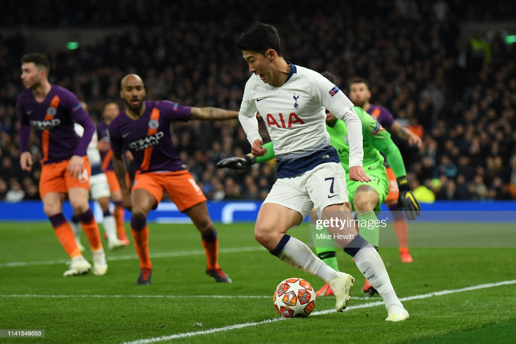 Tottenham Hotspur v Manchester City - UEFA Champions League Quarter Final: First Leg : News Photo