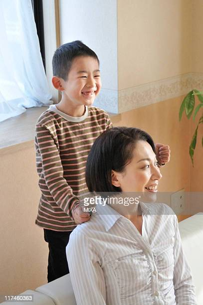 Son massage mom
