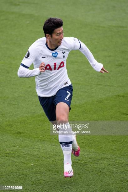 Son MinHeung of Tottenham Hotspur runs during the Premier League match between Crystal Palace and Tottenham Hotspur at Selhurst Park on July 26 2020...