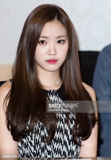 Son NaEun of A pink is nominated as ambassador for Dongguk university on September 17 2014 in Seoul South Korea