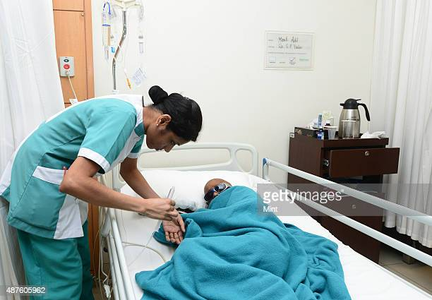 Son of a Rickshaw puller Mohd Adil is being treated for bone marrow transplant his treatment is funded by few charitable organisations at Fortis...