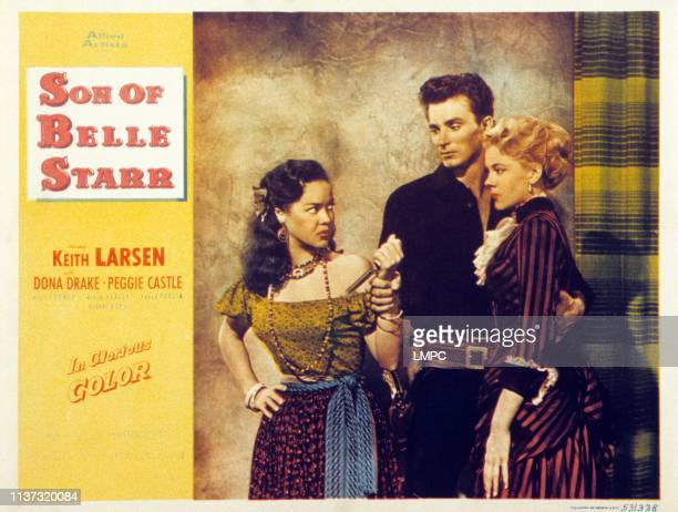 Dona Drake Keith Larsen Peggie Castle on lobbycard 1953