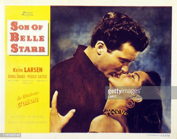 Keith Larsen Dona Drake on lobbycard 1953
