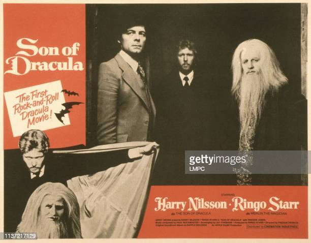 Son Of Dracula US lobbycard bottom from left Harry Nilsson Ringo Starr top from left Freddie Jones Harry Nilsson ringo Starr 1974