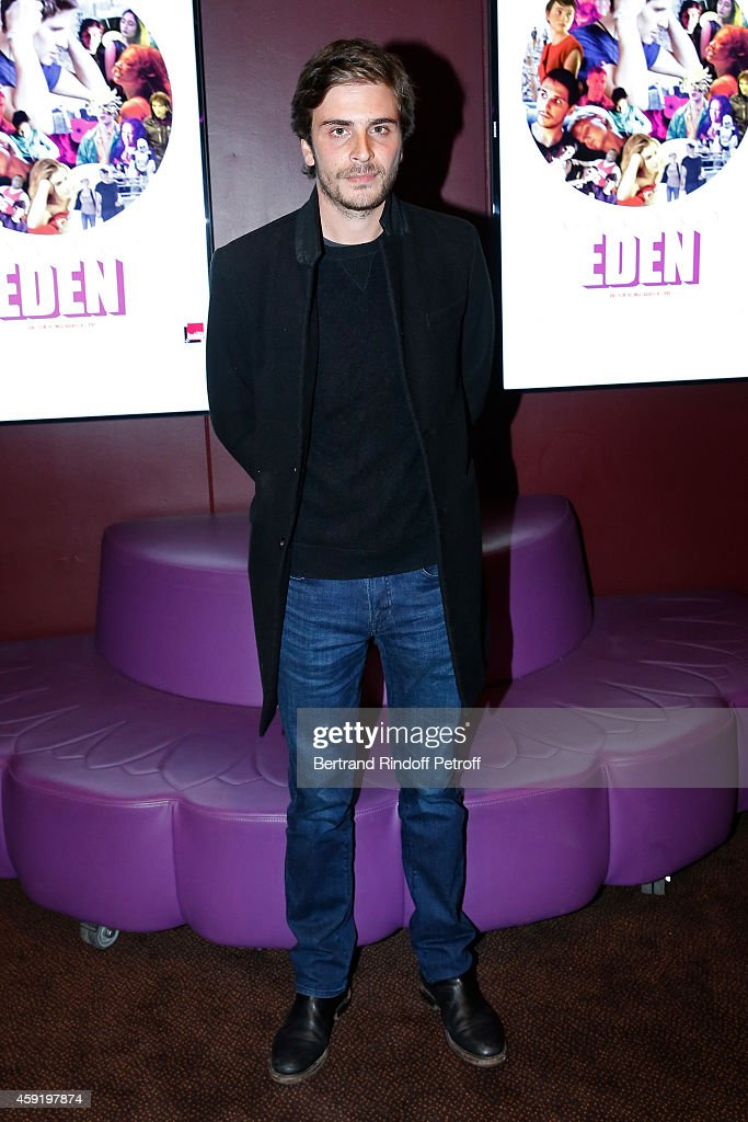 Son of drummer of Group Telephone and actress Marie Trintignant, actor of the movie Roman Kolinka attends the 'Eden' Paris Premiere at Cinema Gaumont Marignan on November 18, 2014 in Paris, France.
