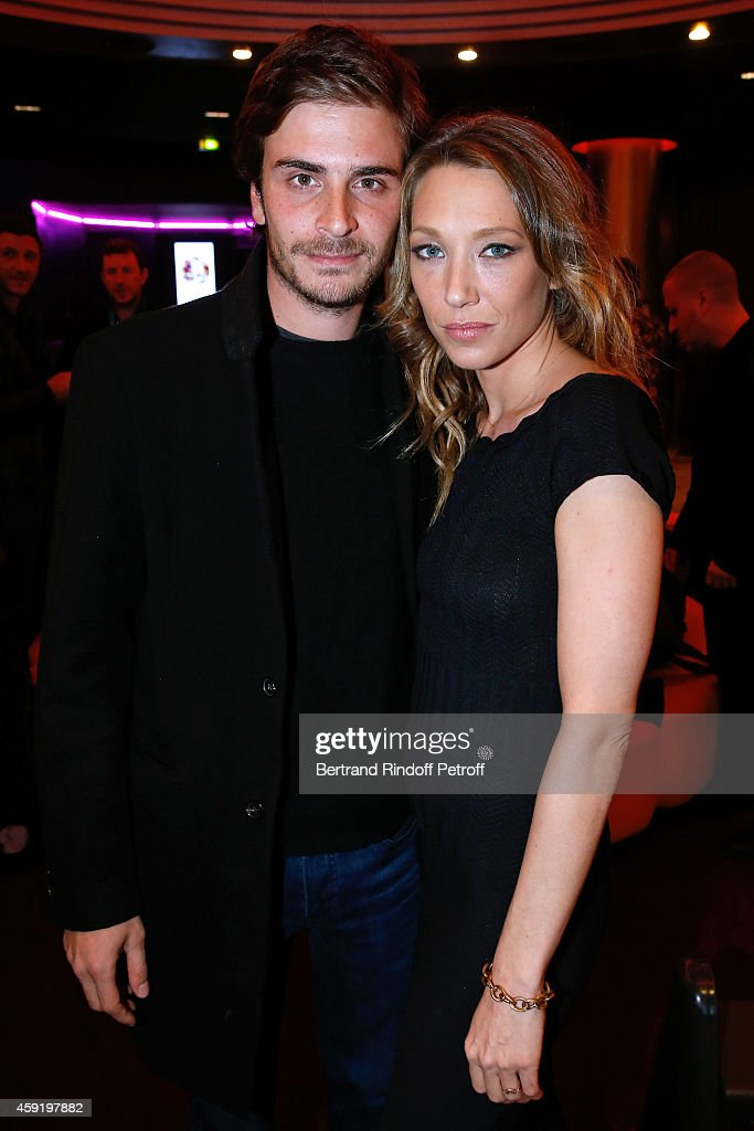 Son of drummer of Group Telephone and actress Marie Trintignant, actor of the movie Roman Kolinka and actress of the movie Laura Smet attend the 'Eden' Paris Premiere at Cinema Gaumont Marignan on November 18, 2014 in Paris, France.