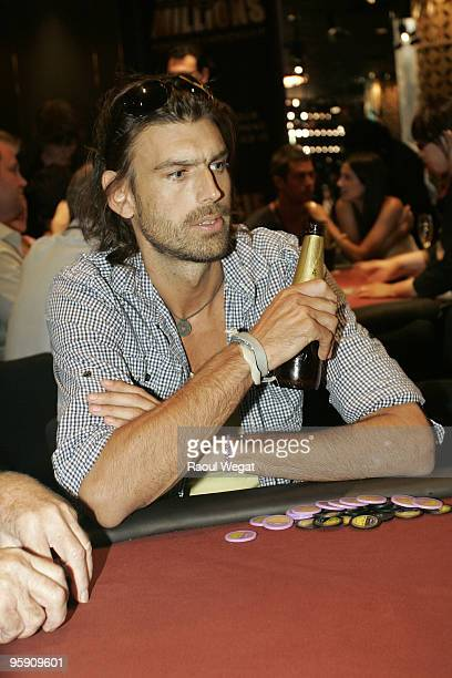 Son of exVictorian Premier Jeff Kennett Angus Kennett participates in the Celebrity Poker Challenge as part of the 2010 Aussie Millions Poker...