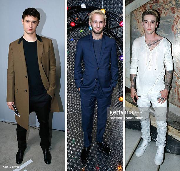 Son of Jeremy Irons Max Irons attends the Lanvin Menswear Fashion Show on June 25 Son of Sean Penn actor Hopper Jack Penn attends the Dior Homme...