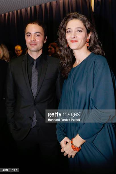 Son of Klaus Kinski and also actor Nicolai Kinski with Amandine Gallienne attend the 'Yves Saint Laurent' Paris movie Premiere at Cinema UGC...