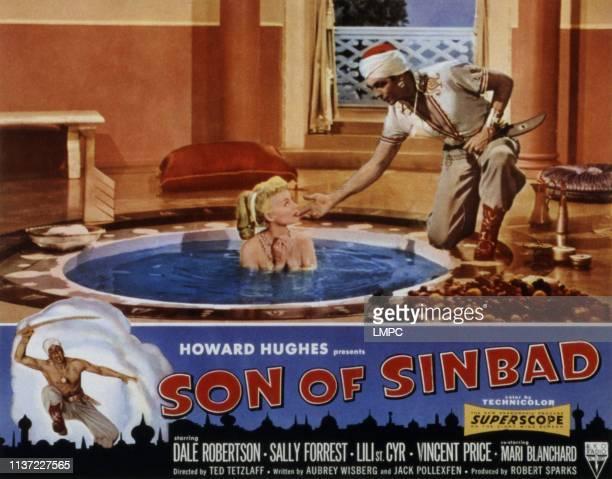 Son Of Sinbad lobbycard Lili St Cyr Dale Robertson 1955