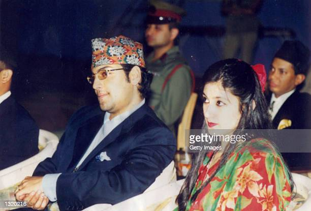 Son of the King of Nepal Prince Paras Shah with his wife Himani Shah attend an event in 2000 in Nepal The public continues to mourn the murder of the...