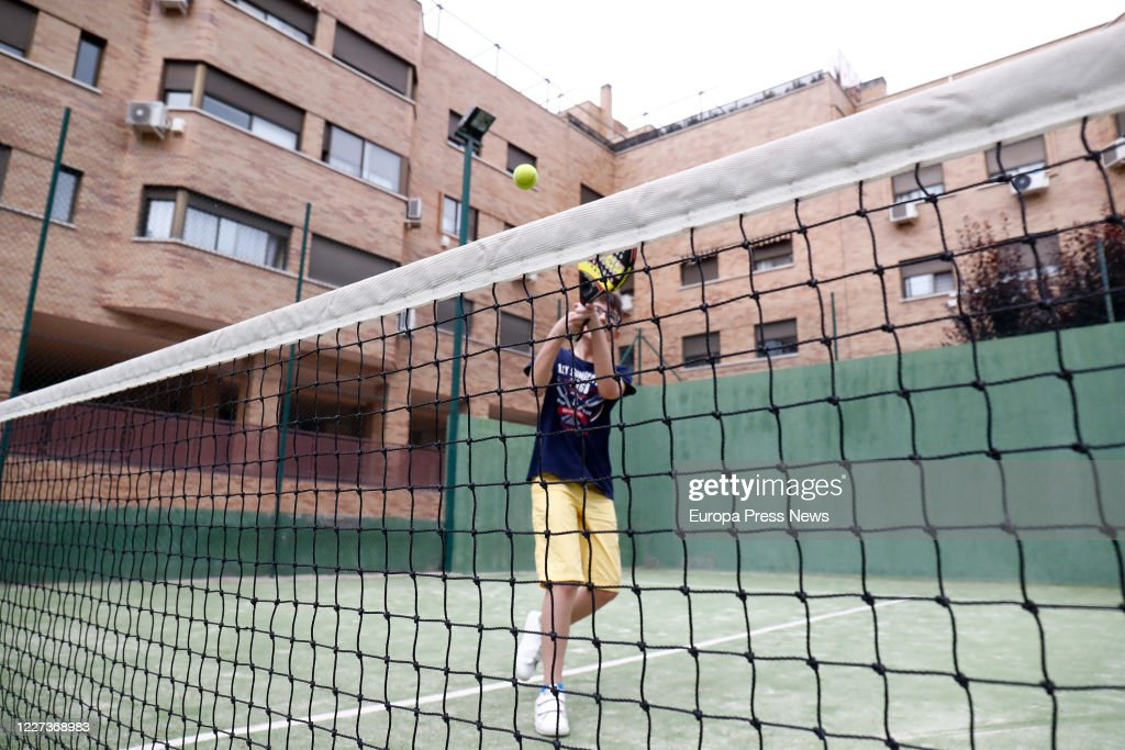 Reopening Of Tennis And Paddle Courts In Madrid : News Photo