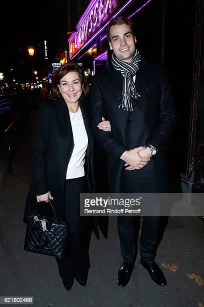 Son of Yves Montand Valentin Livi and his mother Carole Amiel attend LouisMichel Colla the Director of the Theatre de la Gaite Montparnasse...