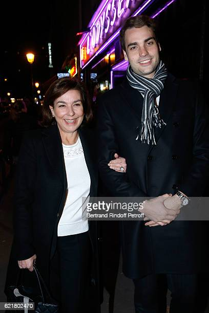 Son of Yves Montand Valentin Livi and his mother Carole Amiel attend LouisMichel Colla the Director of the Theatre de la Gaite Montparnasse...