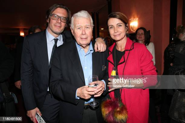 Son Philipp Daniel Weck Peter Weck and his daughter Barbara Weck during the premiere of the theater play Sonny Boys at Komoedie im Bayerischen Hof on...
