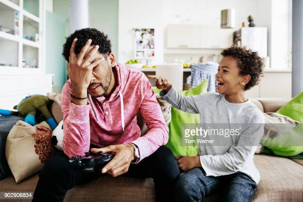 Son Taunting Dad After Losing Video Game