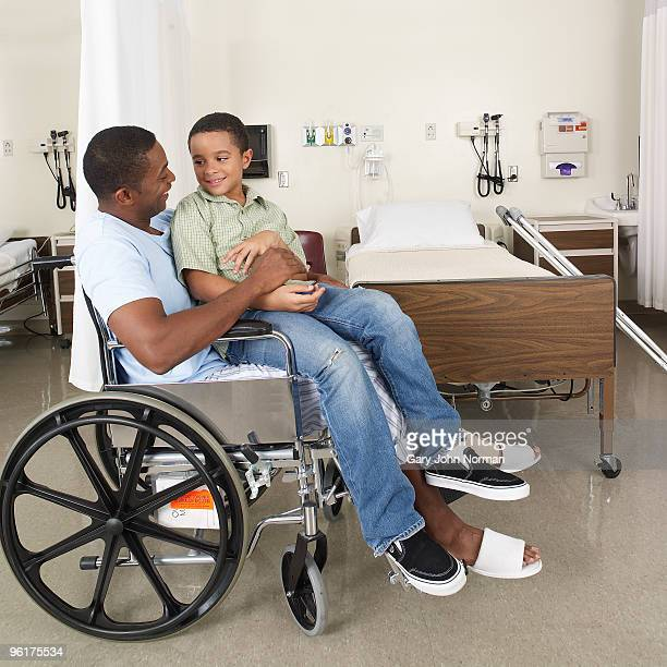 Son visits father in hospital