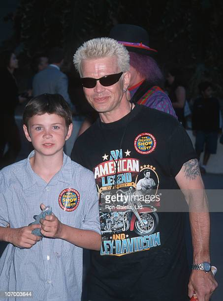 Son Willem Wolf Broad and Billy Idol during Billy Idol and Gene Simmons at the 129th Edition of Ringling Brother Barnum Baily Circus at Los Angeles...