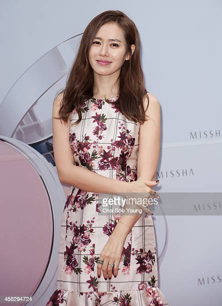 Son YeJin attends the autograph session for MISSHA at Myeongdong on September 1 2014 in Seoul South Korea