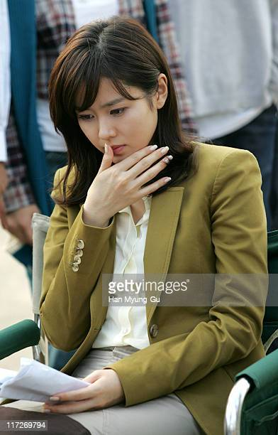 Son YeJin during Son YeJin and Song ilKuk on Location for The Art of Seduction October 26 2005 at Han River in Seoul South South Korea