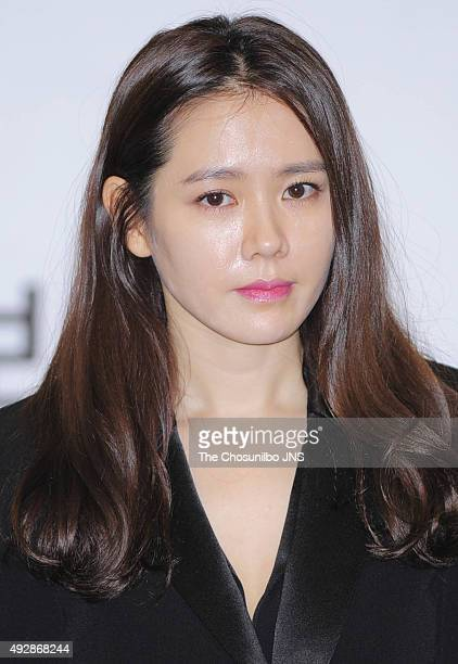 Son Yejin is nominated as an ambassador for The 52nd Daejong Film Award at Hilton on October 14 2015 in Seoul South Korea