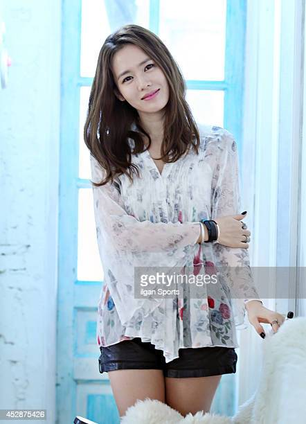 Son YeJin poses for photographs on July 24 2014 in Seoul South Korea