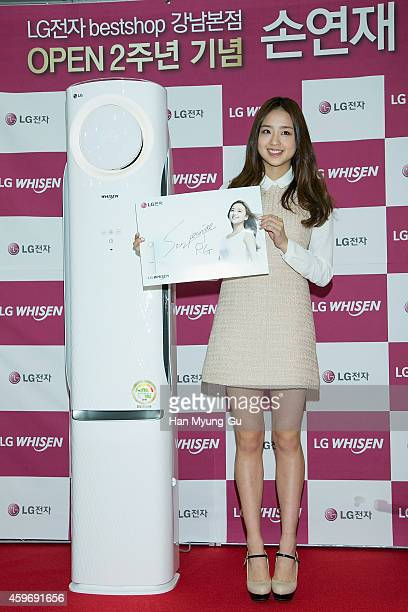 KOREA NOVEMBER Son YeonJae attends the autograph session for LG at LG Bestshop gangnam store on November 28 2014 in Seoul South Korea