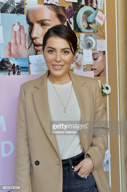 Sona Gasparian attends Summer Fridays Skincare Launch With Marianna Hewitt Lauren Gores Ireland at Hayden on March 15 2018 in Culver City California