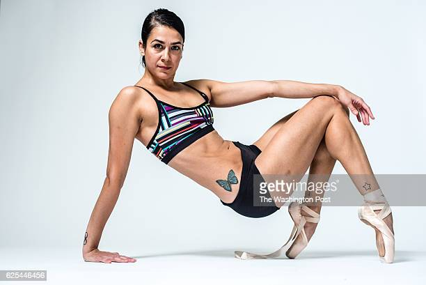 Sona Kharatian a dancer from the Washington Ballet shows off her tattoos