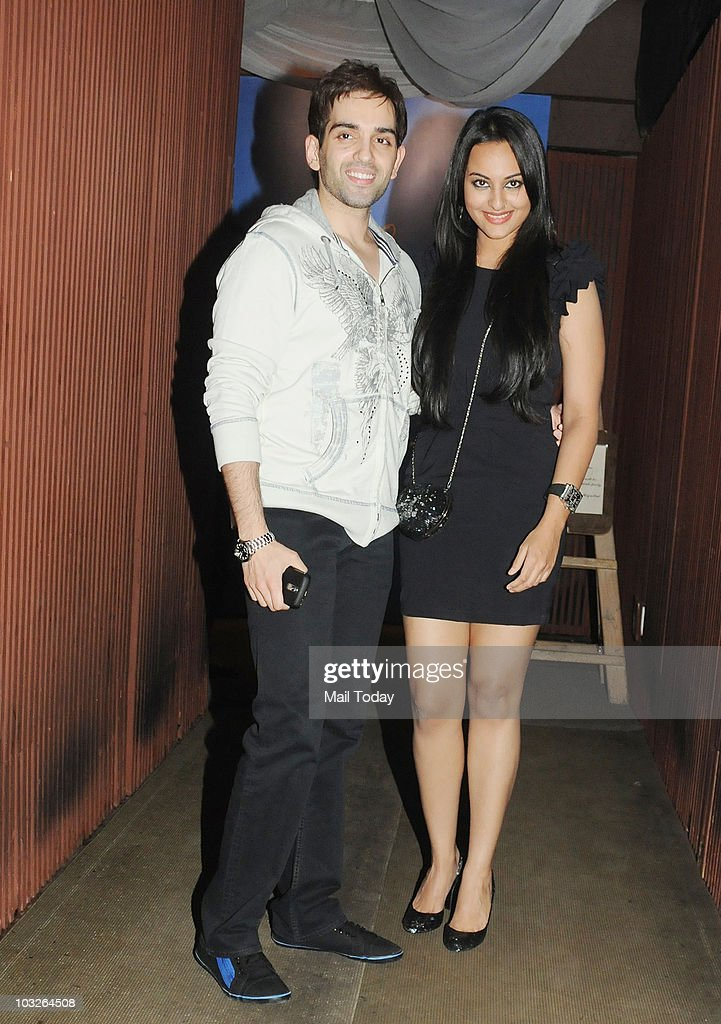 Sonakshi and Luv Sinha at the birthday of Salman Khan`s sister Arpita in Mumbai on August 5 2010