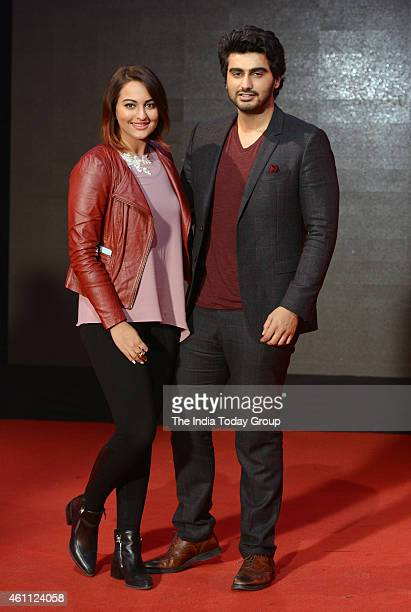 Sonakshi Sinha and Arjun Kapoor during the promotional event at India Today Mediaplex in Noida