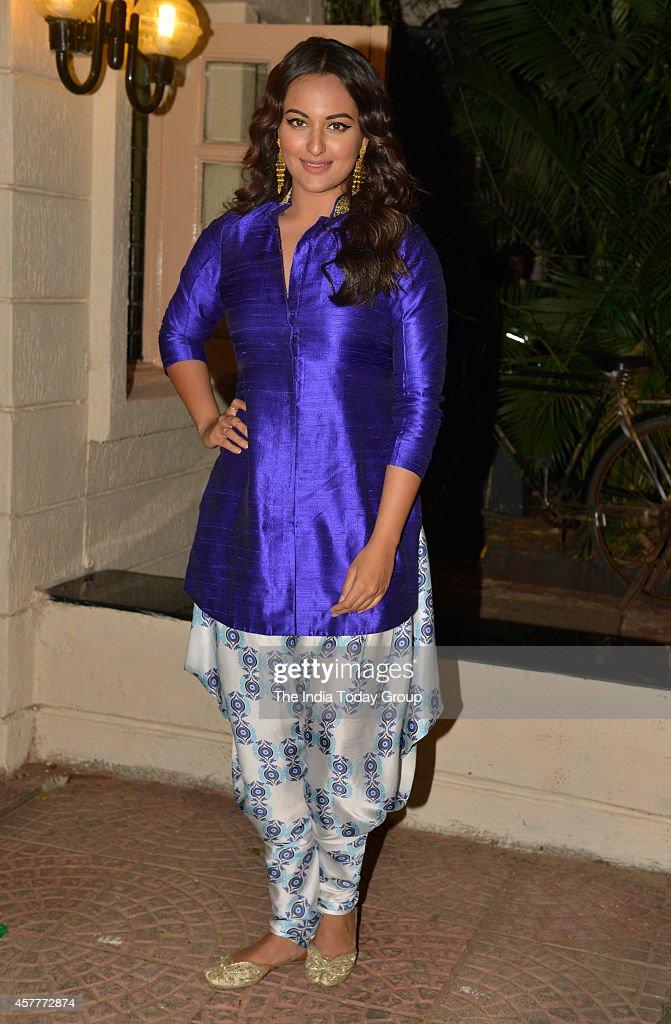 Sonakshi Sinha at Ekta Kapoors Diwali party in Mumbai