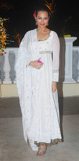 Sonakshi Sinha at Imran Khan and Avantika Malik`s wedding reception party which was organised by Aamir Khan and Kiran Rao at Taj Lands End in Bandra..