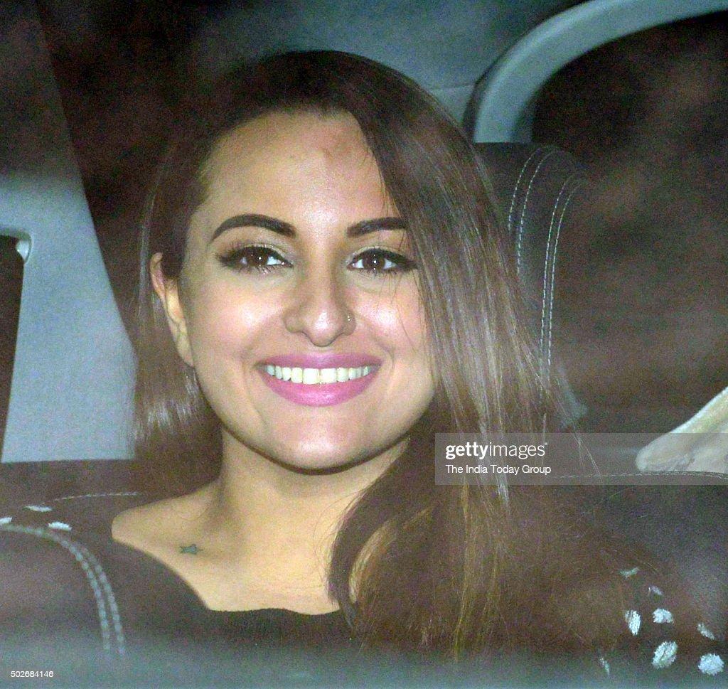 Sonakshi Sinha at Salman Khan`s birthday celebrations in Mumbai