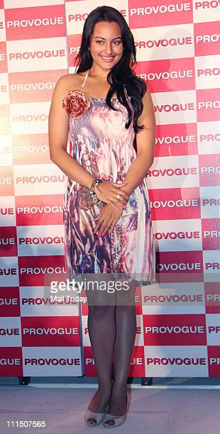 Sonakshi Sinha at the launch of Provogue's new 'Spring Summer Catalogue' at Novotel in Mumbai on 3rd April 2011