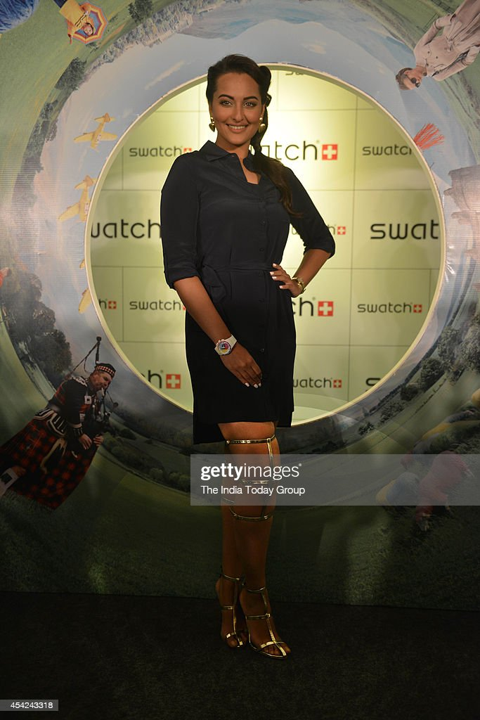 Sonakshi Sinha at the launch of Swatch FallWinter collection in MumbaiPhoto by Milind Shelte/India Today Group/Getty Images