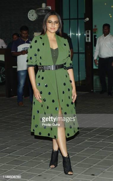 Sonakshi Sinha attends the Ayush Sharma and Arpita Khan wedding Anniversary on November 18,2019 in mumbai, india
