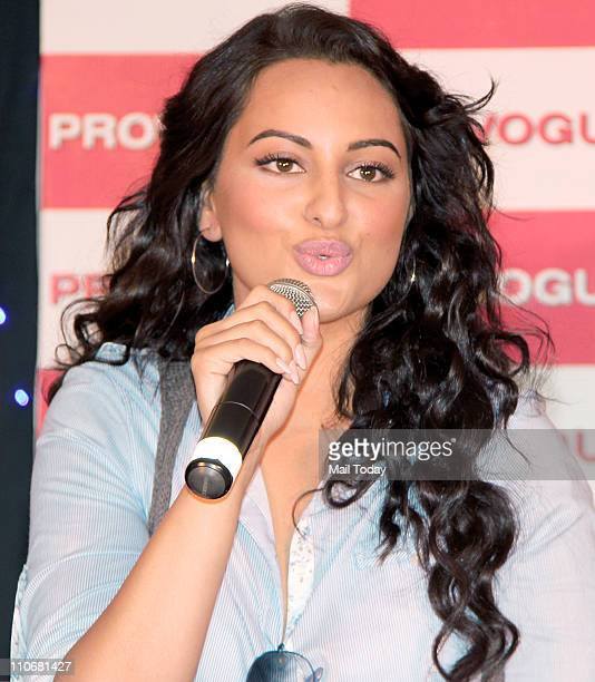Sonakshi Sinha during a brand promotion event at Yashraj Studio's Mumbai on 22nd March 2011