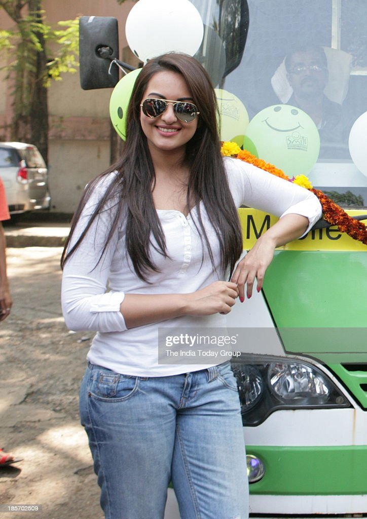 Sonakshi Sinha during the launch of Mobile Hospital Programme in