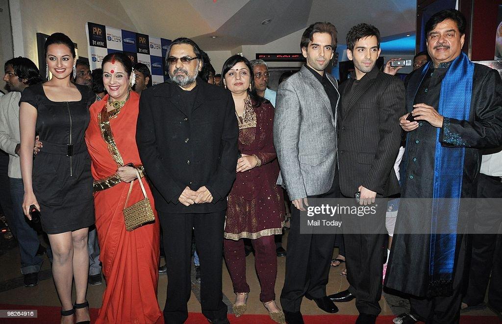 Sonakshi Sinha Poonam Sinha director Raj Kanwar with Kush Luv and Shatrughan Sinha at the premiere of the film Sadiyaan in Mumbai on April 1 2010