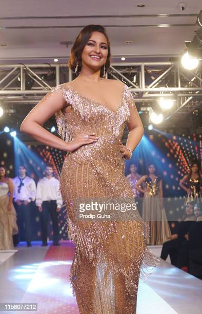 """Sonakshi Sinha walks the ramp for the new """"Retro Remix"""" collection at the Streax Professional mega hair show, """"Hair & Beyond"""" on June 24, 2019 in..."""