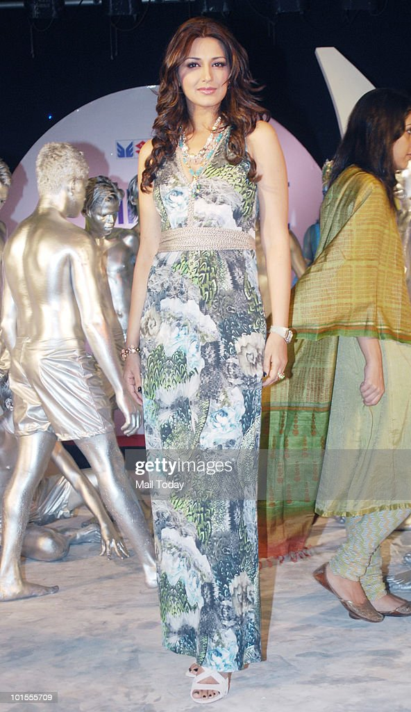 Sonali Bendre at the launch of the season 2 of the Colours show India's Got Talent in Mumbai on June 1, 2010.