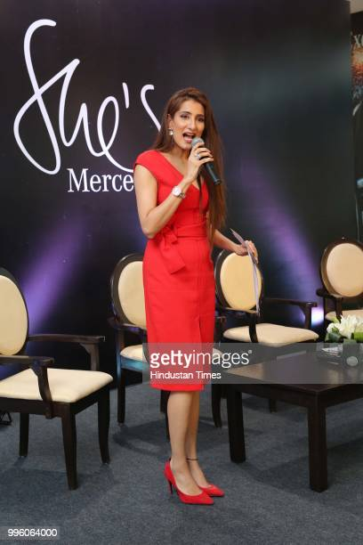 Sonali Gupta during the launch of Shes Mercedes an initiative of TT Motors one of Indias largest and oldest luxury car dealerships for MercedesBenz...