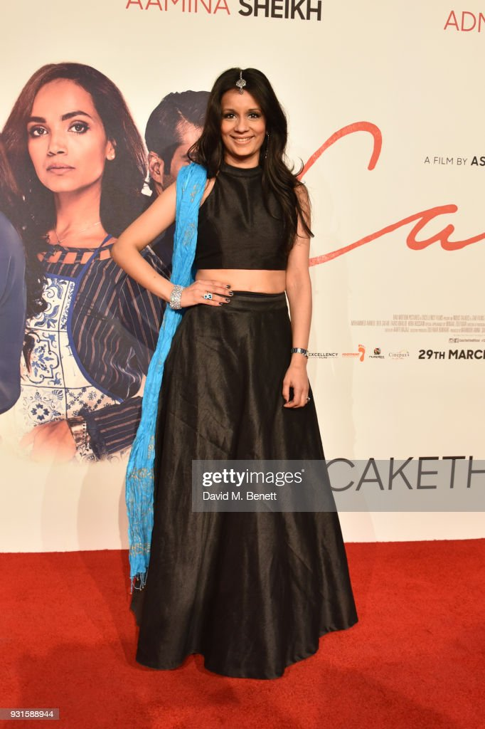 Sonali Shah attends the UK Premiere of 'Cake' at the Vue West End on March 13, 2018 in London, England.
