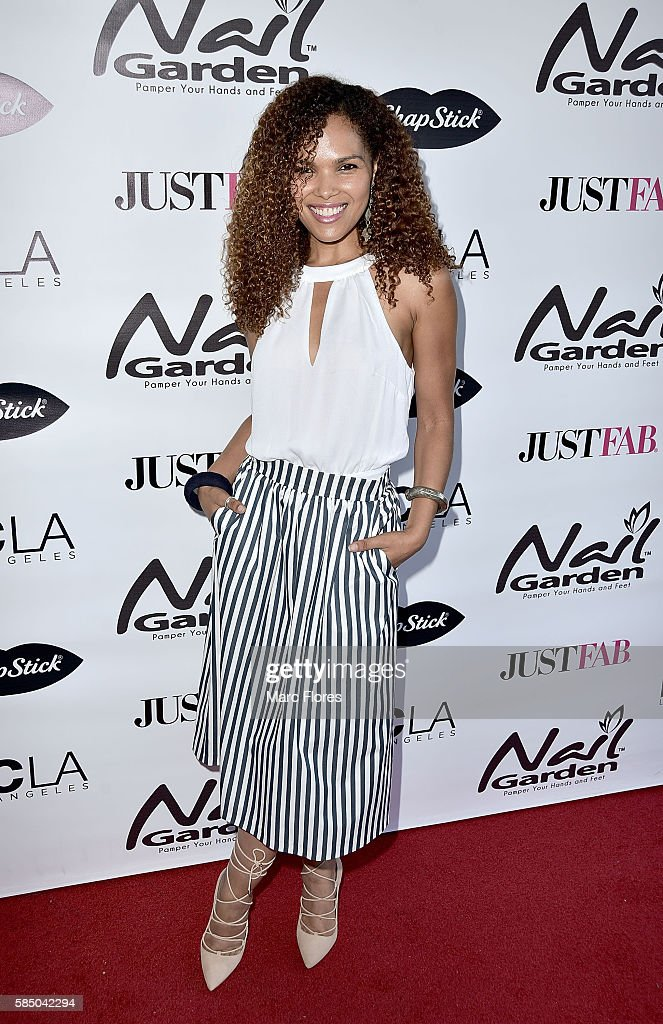 Sonalii Castillo arrives at the 10 Year Anniversary With Beauty For A Cause Summer Toy Drive at Nail Garden on July 26, 2016 in Studio City, California.
