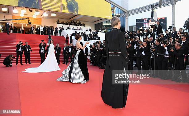 Sonam Kapoor Araya A Hargate and Li Yuchun aka Chris Lee attend the 'From The Land Of The Moon ' premiere during the 69th annual Cannes Film Festival...