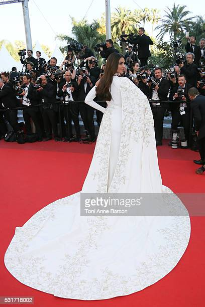 Sonam Kapoor attends a screening of From The Land And The Moon at the annual 69th Cannes Film Festival at Palais des Festivals on May 15 2016 in...